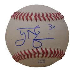 Tyler Naquin Autographed Rawlings ROLB1 Leather Baseball, Proof Photo. Tyler Naquin Signed Rawlings Baseball, Cleveland Indians, Proof   This is a brand-new Tyler Naquin autographed Rawlings official league leather baseball.  Tyler signed the baseball in blue ball point pen. Check out the photo of Tyler signing for us. ** Proof photo is included for free with purchase. Please click on images to enlarge. Please browse our website for additional MLB autographed collectibles. 2   Notable…