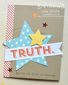 nutmeg creations: Words of Truth - Stampin' UP Artisan Blog Hop
