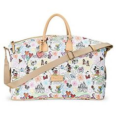 Disney Sketch Weekender by Dooney & Bourke | Disney StoreDisney Sketch Weekender by Dooney & Bourke - Get away for fun times with this strapping leather luggage by Dooney & Bourke. Mickey's fine fashion tote with colorful Magic Kingdom styling comes to you direct from the Disney Parks and the designer label you love.