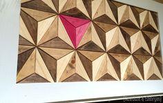Wood Mosaic 3D Illusion Artwork {Sawdust and Embryos}