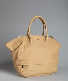 Yves Saint Laurent taupe leather snap side tote | BLUEFLY up to 70 ...