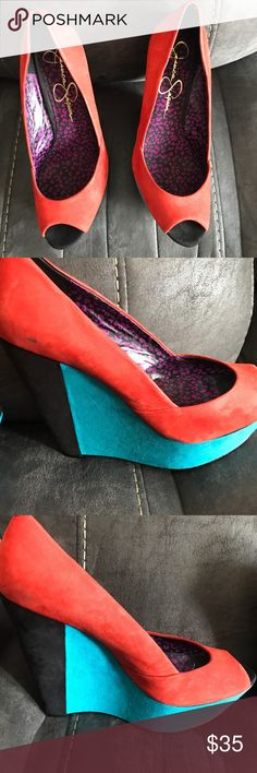 Jessica Simpson wedge heels Pair of good condition wedge heels by Jessica Simpson Jessica Simpson Shoes Wedges