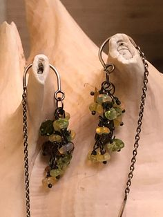Green And Orange, Yellow, Cowboy Pictures, Bead Shop, Teardrop Earrings, Swarovski Crystals, Opal, Chandelier, Wire