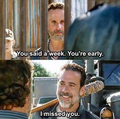The Walking Dead Season 7 Episode 4 'Service' Negan and Rick Grimes