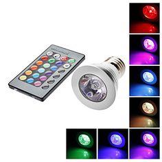 Focos LED Control Remoto MR16 E26/E27 5W 1 LM RGB AC 85-265 V 678691 2016 – €5.99 5 W, Control, Nespresso, Spotlight, Remote, Coffee Maker, Lights, House, Ideas