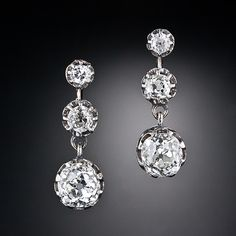 Victorian Diamond Earrings - - Lang Antiques