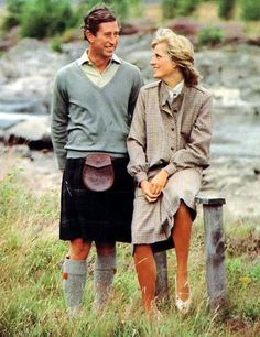On Wednesday August 19th in 1981, Prince Charles and Princess Diana broke from their honeymoon at Balmoral and appeared together on the banks of the River Dee.