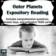 Outer planets expository reading with differentiated comprehension worksheet with leveled questions. Perfect for common core in the science classroom.Common Core in the science classroom is all about being able to read expository articles and other texts such as data tables and use the evidence from the readings to support their answers. - Grade level: 6th, 7th, 8th, 9th