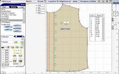 Design Sew Patterns CAD Software free Clothes pattern - DIVA version d'essai gratuite. Logiciel commercial. Fichiers avec les mesures des client(e)s