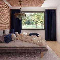 Z282 to wyjątkowy dom z kategorii projekty domów jednorodzinnych Beautiful House Plans, Modern House Plans, Beautiful Homes, Lounge, Couch, Curtains, How To Plan, Furniture, Home Decor