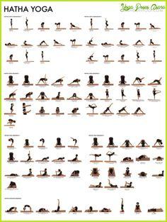cool Yoga poses chart