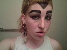 Hilarious Eyebrow Fails - Version 4 - Pictures of Ugly Eyebrows - Crazy . Funny Eyebrows, Crazy Eyebrows, How To Draw Eyebrows, Crazy Eyes, Eyebrows On Fleek, Eye Brows, Eyebrow Fails, Eyebrow Brush, Funny Pics