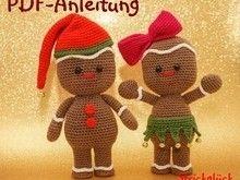 Häkelanleitung Pfefferkuchenmann Weihnachten Amigurumi 26 Seiten