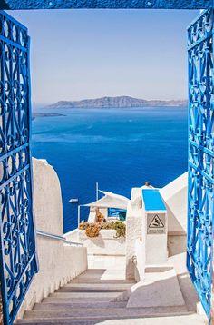 The blues of fira, Santorini