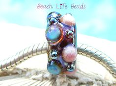 Metallic SEA BAUBLE OPAL Fully Lined Sterling by beachlifebeads, $19.00