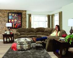 England Furniture 7200 with Bacarat Mocha and Renwick Sahara fabrics