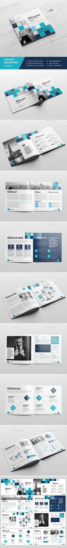 Haweya Abstract Square Brochure Template InDesign INDD. Download here: https://graphicriver.net/item/haweya-abstract-square-brochure-02/17487987?ref=ksioks
