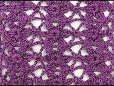 Crochet: Punto Enrejado con Flor # 3