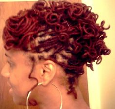 Curly locs updo natural hair-Can't wait to sport the curly look! lUV IT!!!
