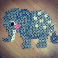 Elephant hama beads by perler_bead_art