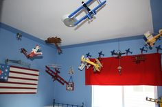 I love this idea for a boys room...not sure if either of mine would like this though...