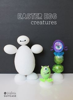 Fun Disney Easter Egg Creature Ideas on My Sister's Suitcase!! #PAASEaster
