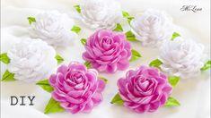 РЕЗИНКИ ДЛЯ ВОЛОС, МК / DIY Scrunchy with Kanzashi flowers