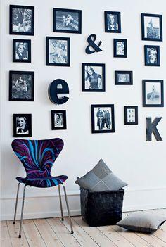 great photo wall.