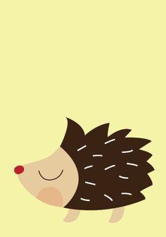 Baby Porcupine Poster  Modern Animal by Sealandfriends on Etsy, $10.00