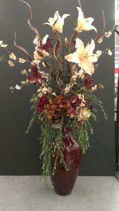 Image Result For Floral Arrangement For Tall Vase On Fireplace