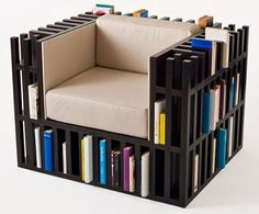I Need Me One of These: Bibliochaise Bookshelf Chair - OhGizmo! This.