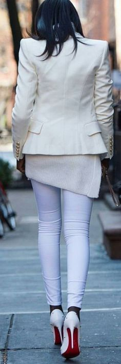 #streetstyle #spring2016 #inspiration |Shades Of White