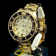 16389d0524a Relógio Invicta Pro Diver 19807 Dourado Relógios De Luxo