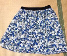クライムキニットソーイング教室作品 ゴムウエストのスカート