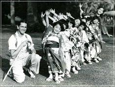 Japanese children dancing