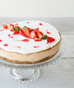 This Strawberry Swirl Cheesecake Recipe Is Vegan and Gluten-Free, But Still Delicious from InStyle.com