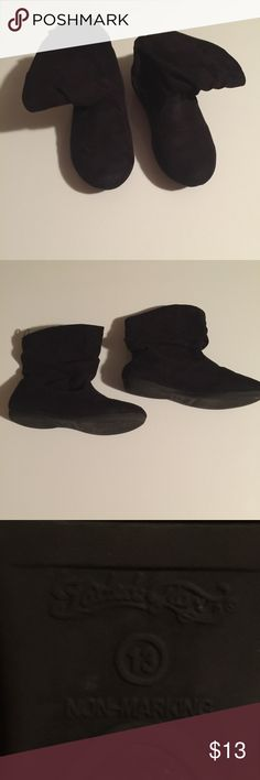 Size 13 little girls boots ! These have been worn maybe five times no flaws that I can see they feel like suede they r soft my little girl loved these ! Feel free to ask me to bundle for u u can usually order three to four items and still pay the same shipping price ! Faded Glory Shoes Boots