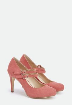 An elegant Mary Jane pump featuring a double buckle strap closure makes for the perfect work look....