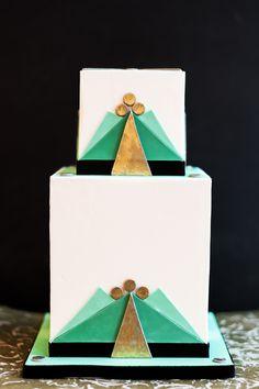 Modern art deco cake