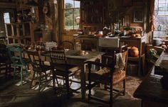 The Burrow's kitchen. I'm a Weasley at heart. I think the Weasley's house on harry potter is my dream house...as nerdy as that is...
