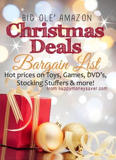 Amazon Christmas Deals Bargain List (Toys, Stocking Stuffers, DVD's and more!)