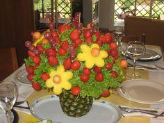 Decoración de Centros de Mesa con Frutas