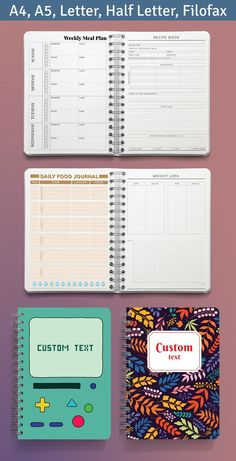 Organize your tasks, assignments and appointments with this easy to use collection of Meal Planners Book Templates. Here are the best templates you can customize and download. Life can get hectic, there is so much to keep up with. Weekly Meal Plan Template, Planner Template, Planner Book, Meal Planner, Best Templates, Bullet Journal, Meals, How To Plan, Appointments