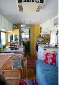Check out the way this lady remodeled her RV! Her flickr feed actually has two RVs she has done. If we get an RV, I'm immediately stealing some of these ideas for renovating it. http://www.flickr.com/photos/happyjanssens/831093210/in/set-72157600709248888/