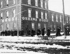 Oshawa House with Bishop Bethune Girls, From the Oshawa Community Archives Collection