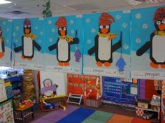 Pic of all the different penguins created using the glyph!  Love the fishing poles!