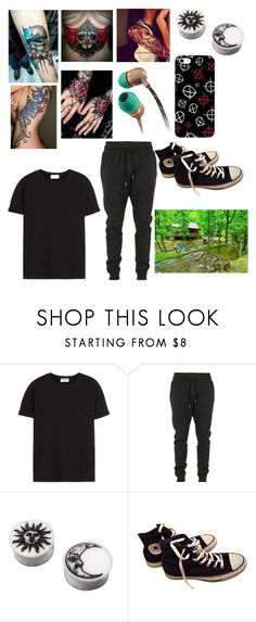 """Untitled #1156"" by dinobuggy ❤ liked on Polyvore featuring Frame, Blood Brother and Converse"