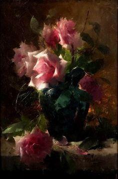 Frans Mortelmans, flowers, art