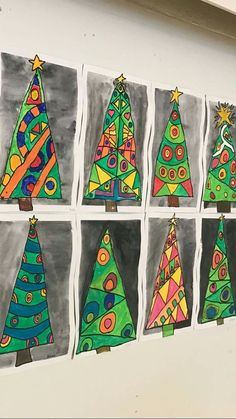 Kids will love creating this beautiful Christmas tree art project using a mixed media approach. Fun and easy techniques make this a wonderful Christmas craft activity! Christmas Art For Kids, Christmas Art Projects, Christmas Tree Art, Winter Art Projects, Beautiful Christmas Trees, Christmas Activities, Holiday Crafts, Trees Beautiful, Christmas Decorations