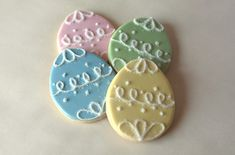 Sugar Cookies | Pastel Easter Egg Sugar Cookies
